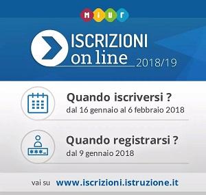Date iscrizioni Anno Scolastico 2018/2019
