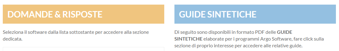 FAQ e Guide sintetiche